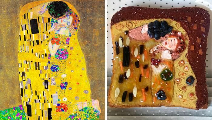 Gustav Klimt - 'The Kiss' (1907)