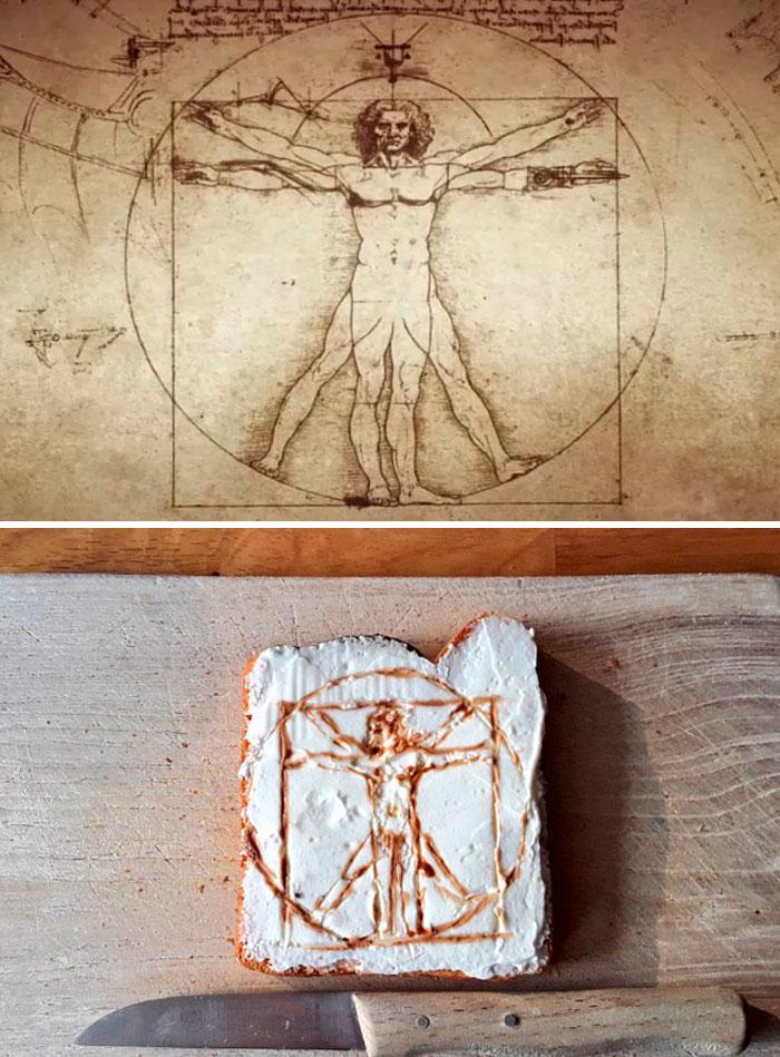 Leonardo Da Vinci - 'Vitruvian Man' (1490)