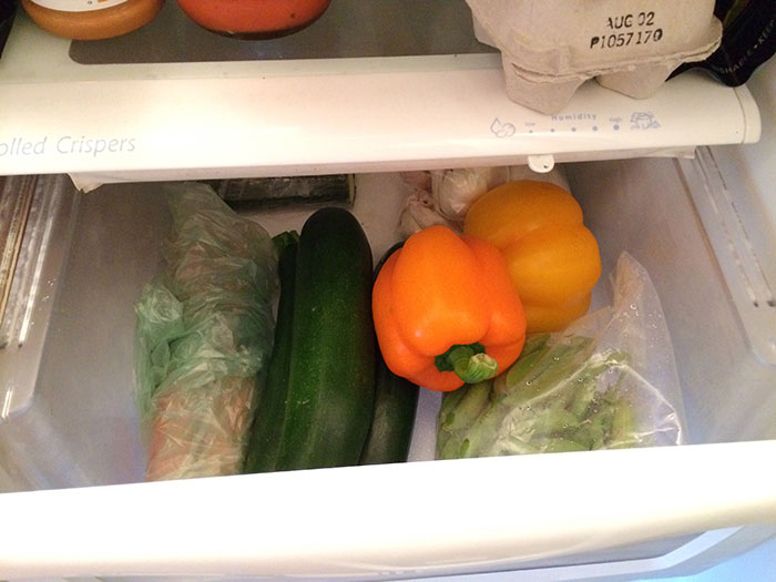 Produce bins in fridges are full of germs