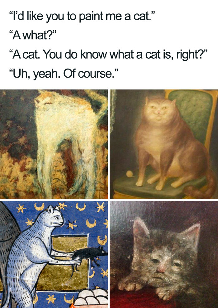 Medieval Cat Paintings Be Like