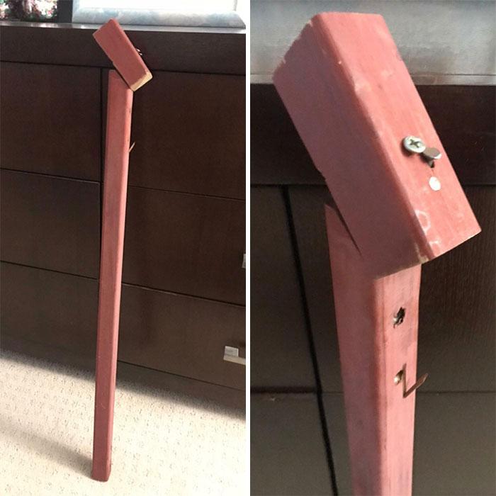 Mi madre intentó hacerle un bastón a mi padre