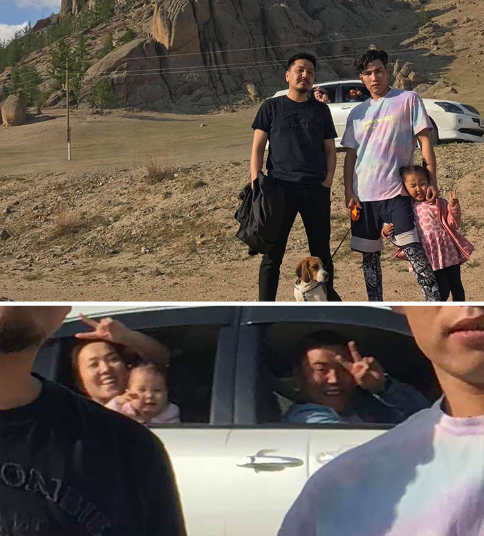 This Family That Photobombed Us