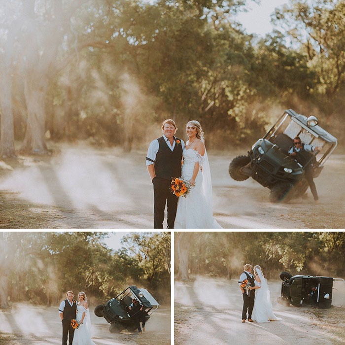 This Couple Wanted Dust In The Air For Their Wedding Photos, The Best Man Made It Happen... And Then Some