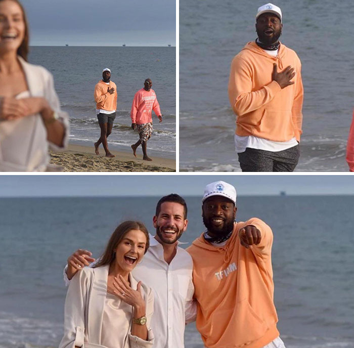 Dwayne Wade Accidentally Photobombing A Proposal