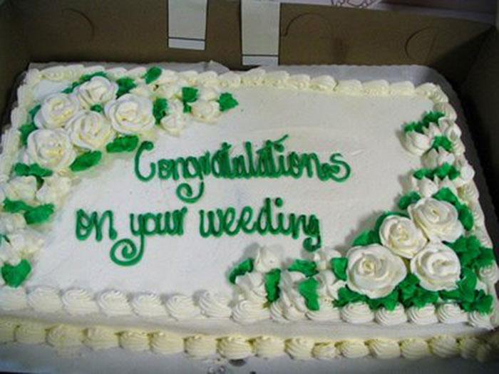 "The ""Weeding"" Cake"