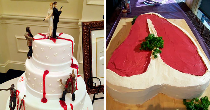 40 Times People Questioned If These Wedding Cakes Were The Right Choice For The Big Day