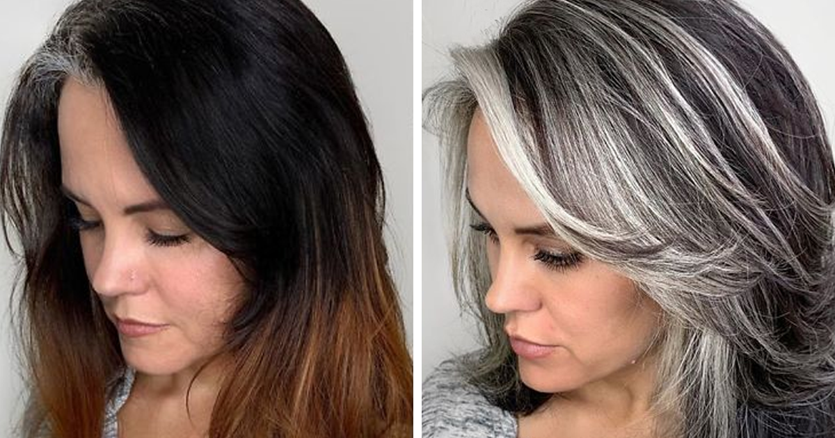 Instead Of Covering Grey Roots, This Hairdresser Makes Clients Embrace It With His Transformations (New Pics)