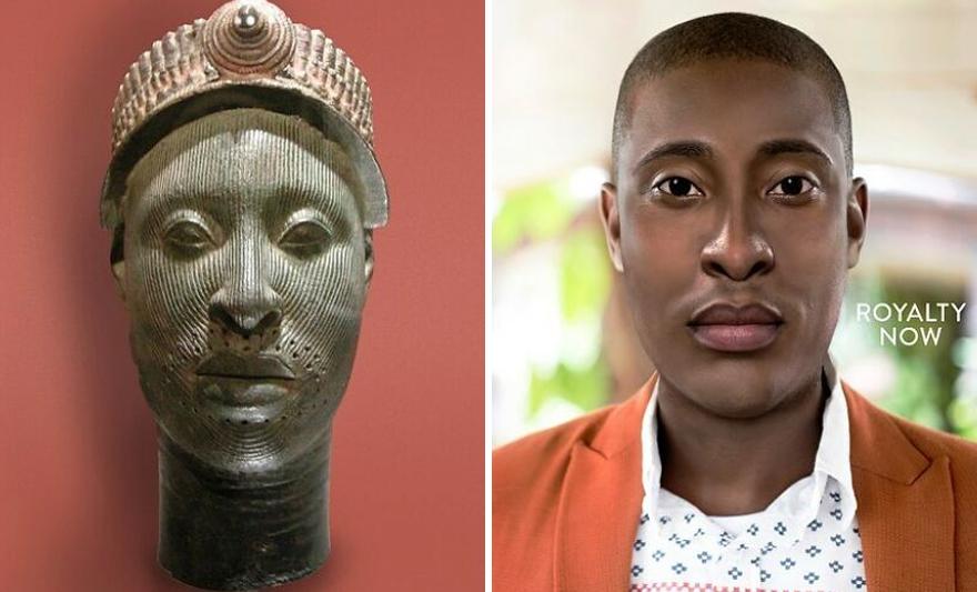 Yoruba Ruler - Bronze Ife Head