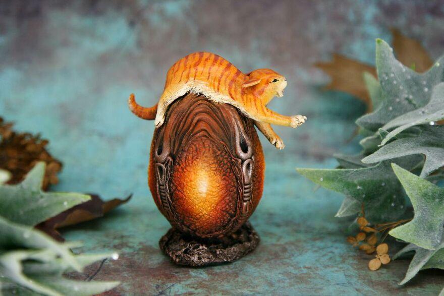Sassy Cat On The Xenomorph Egg