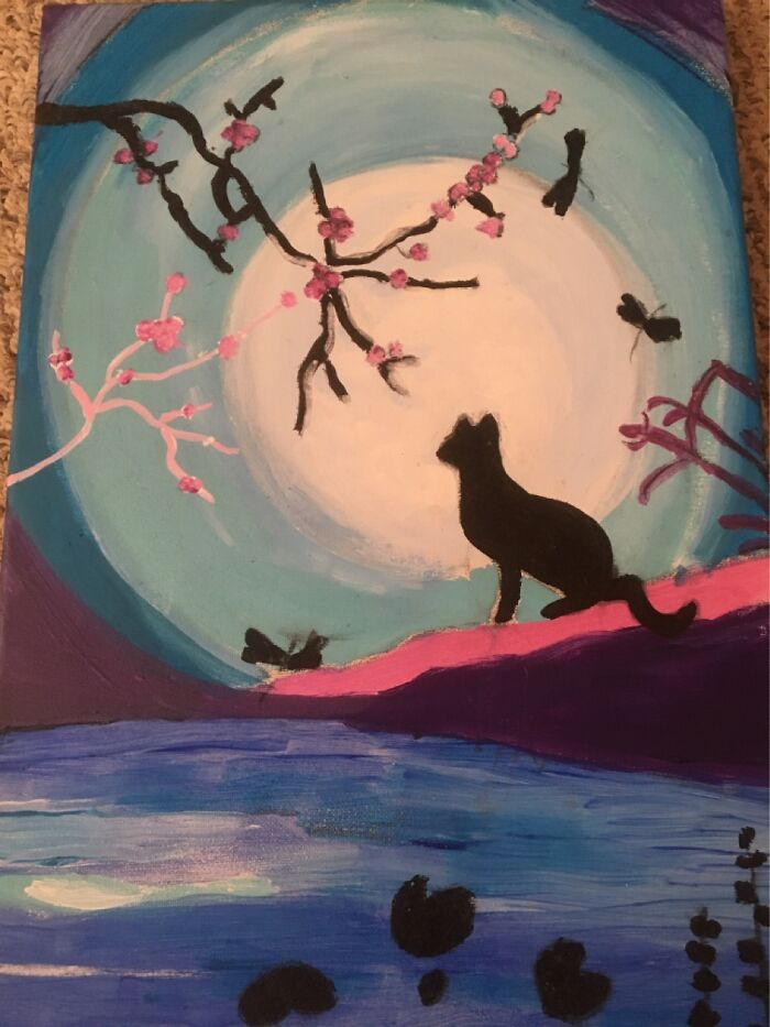 This Was My First Painting, And I'm Really Proud Of It.