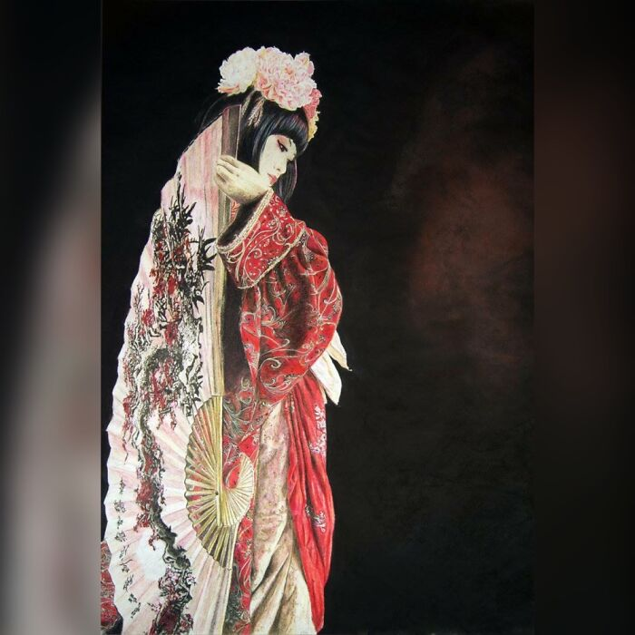 Geisha I Drew In 2011, Took Over 120 Hrs, All Coloured Pencils.