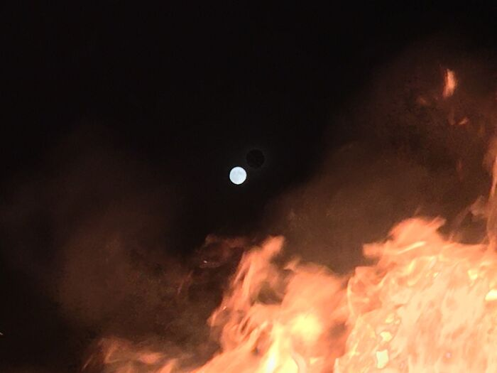 Full Moon And A Fire