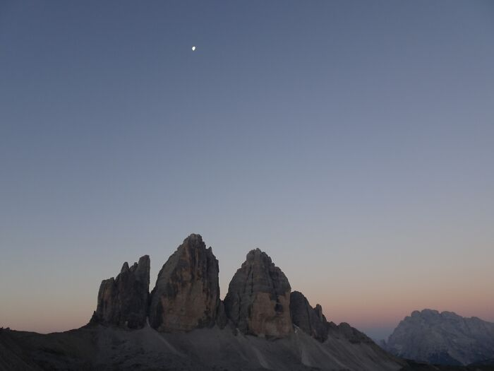 I Got Up At Dawn To Watch The Sunrise At The Tre Cime In The Dolomites/Alps