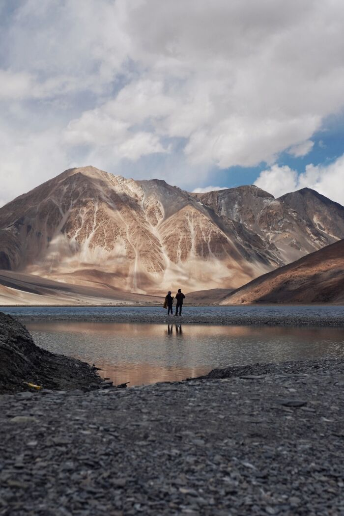 Unknown Couple By Lake Pangong, India