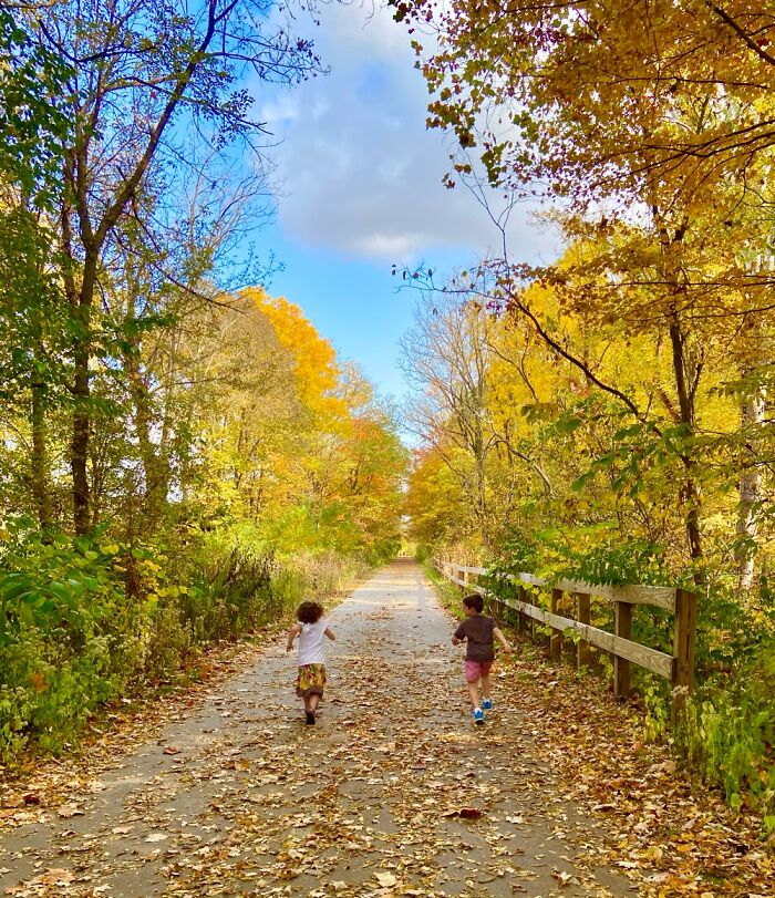 """Autumn Trail: """"I'm Faster Than You!"""""""