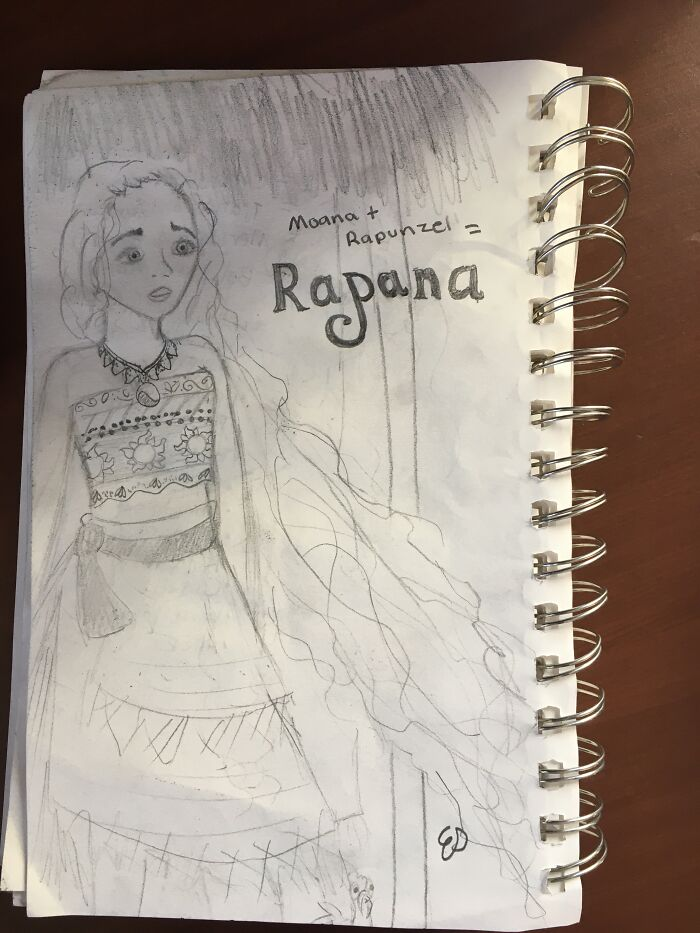 I Mixed The Disney Princesses Moana And Rapunzel Together. I'm Going To Do Some Of The Others Too But I Haven't Gotten To It