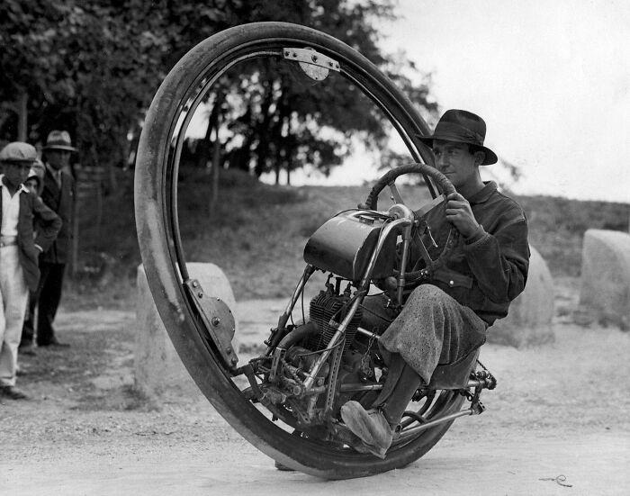 Motocicleta de una sola rueda, Alemania, 1925