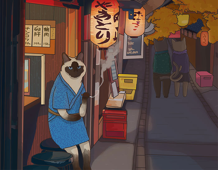 My 12 New Innocent Illustrations Of Cute Animals In Japanese Scenarios