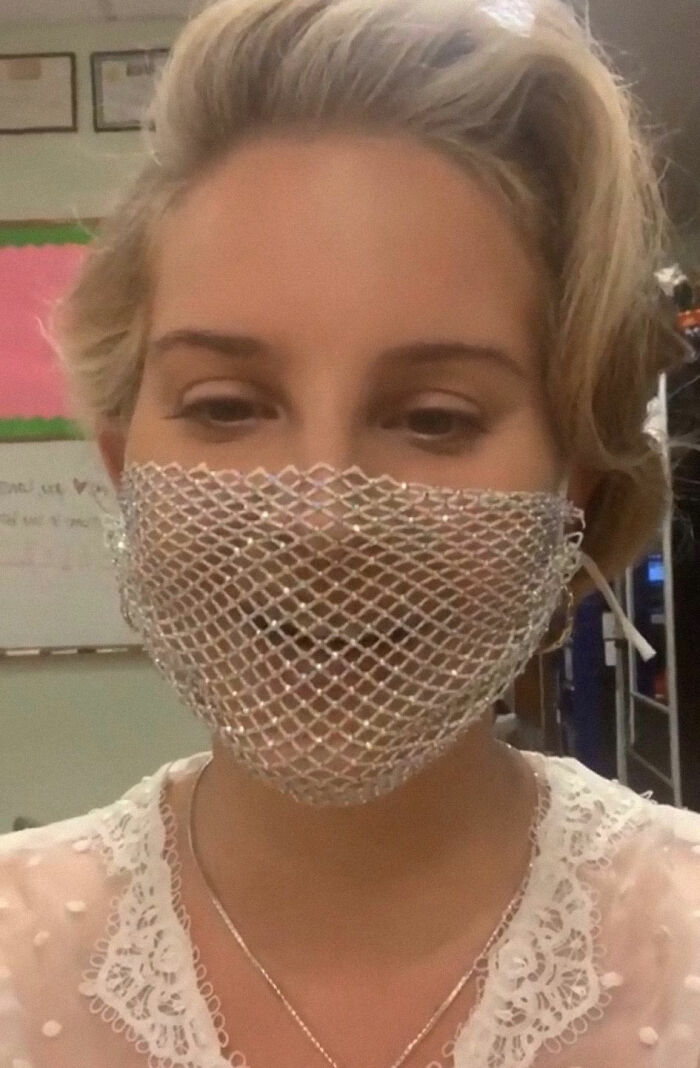 Lana Del Rey Responds To Folks Who Criticized Her For Carrying A Mesh Face Overlaying Throughout The Coronavirus Pandemic