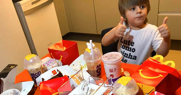 Toddler Borrows His Mom's Phone And Treats Himself To $100 Worth Of McDonald's