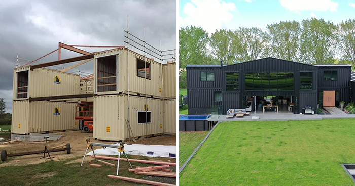 This House Was Built Out Of 12 Shipping Containers And Both The Interior And Exterior Look Stunning