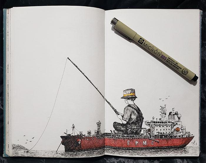 Here's My Quarantine Art Book (52 Pics)