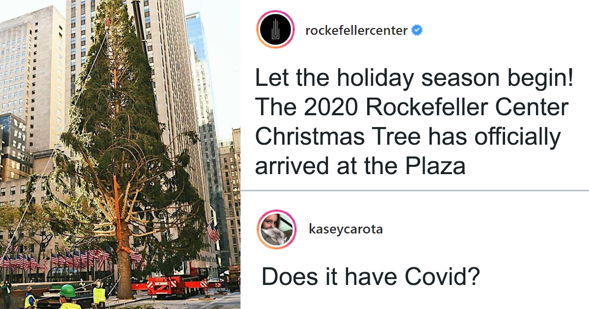 People Are Shaming This Rockefeller Center Christmas Tree, So The Center Claps Back