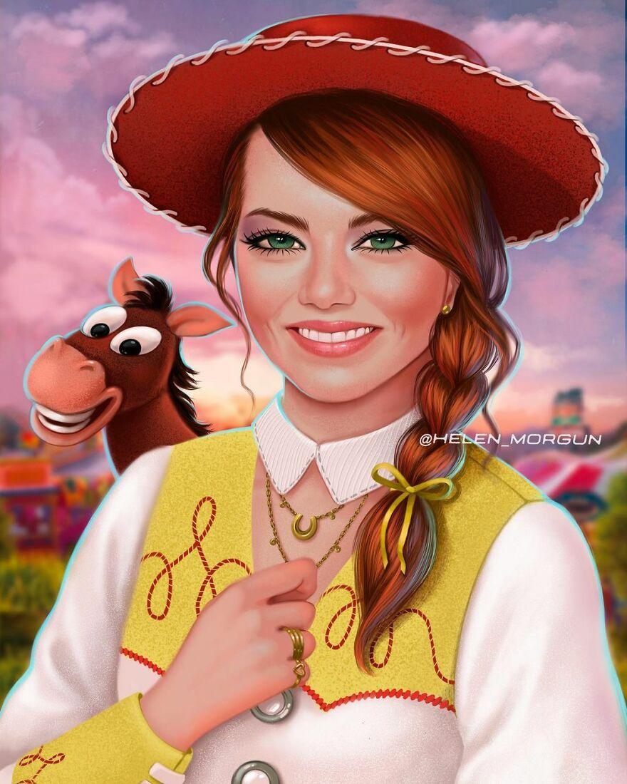 Emma Stone As Jessie From Toy Story