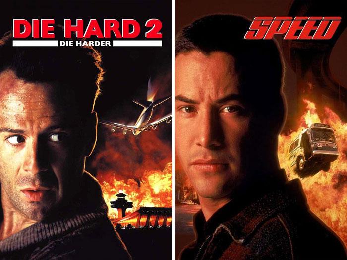 Die Hard 2 (1990) vs. Speed (1994)