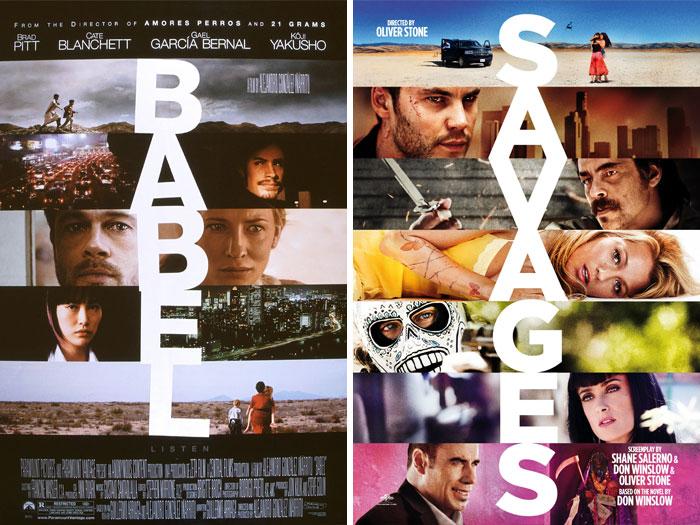 Babel (2006) vs. Savages (2012)
