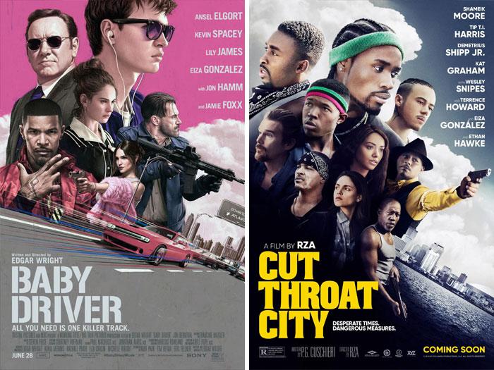 Baby Driver (2017) vs. Cut Throat City (2020)