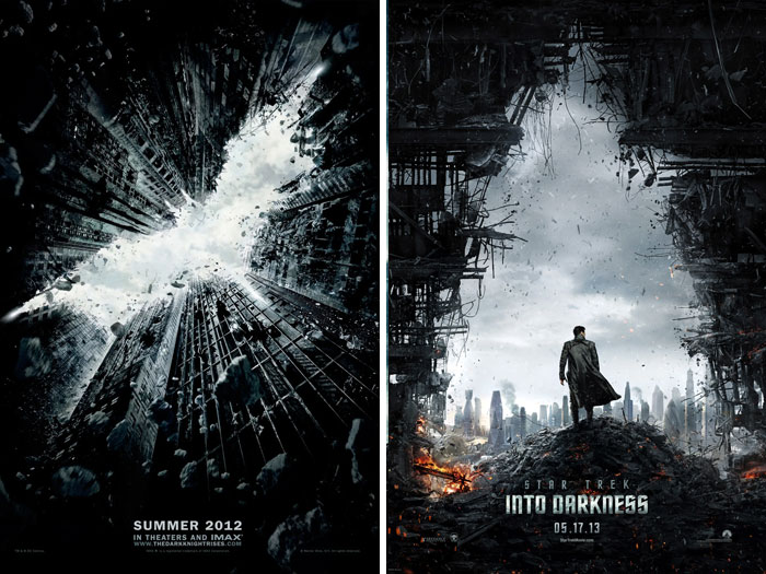 The Dark Knight Rises (2012) vs. Star Trek Into Darkness (2013)