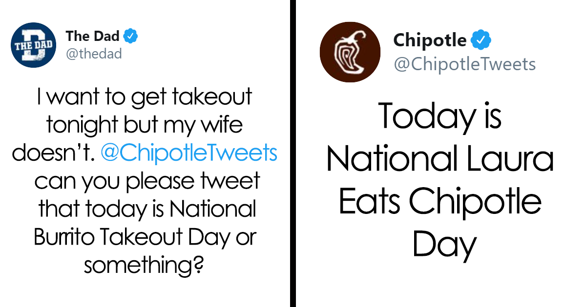 Husband Takes Trolling To The Next Level By Inventing A Burrito Day With The Help Of 'Chipotle'