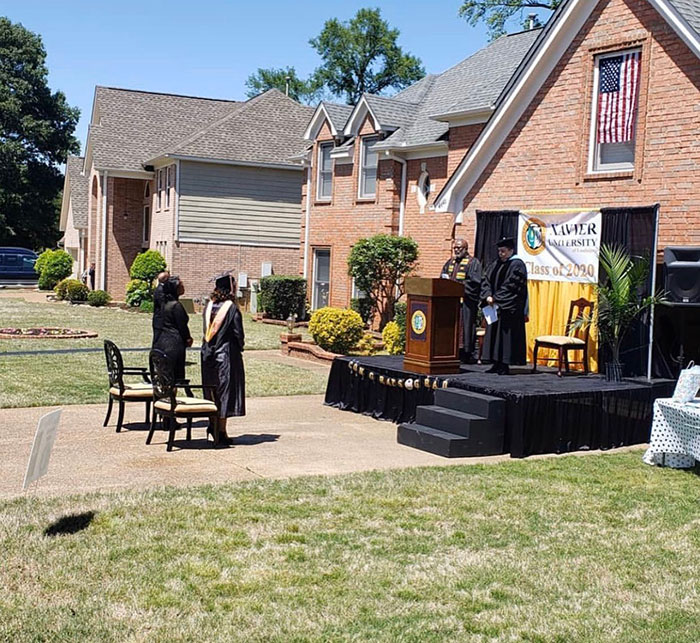 Dad Builds A Stage Right On His Driveway To Host College Graduation For His Daughter