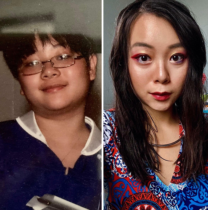 15yr Old To 26yr Old. I Used To Cut My Hair Short So I Looked Like A Guy And Food Was My Comfort Blanket