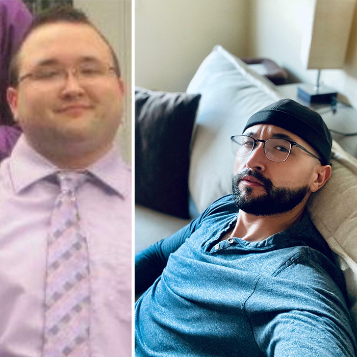 23 vs. 31 - Lost The Weight (160lbs) 7 Years Ago. My Hair Moved From The Top Of My Head To My Face And I'm Still Trying To Find My Look, But I Felt Good Today