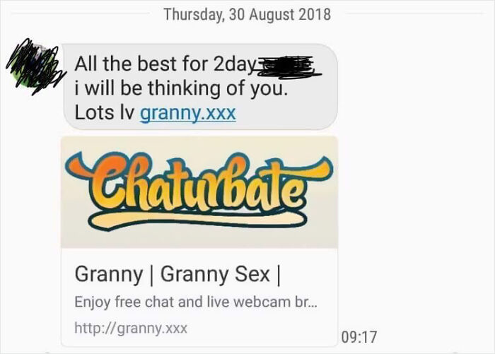 Granny Messaged To Wish Me Luck On My Test