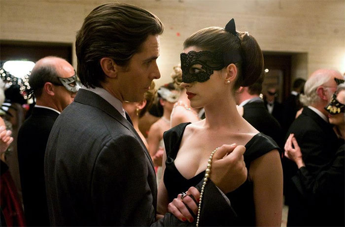 "In The Dark Knight Rises (2012), Bruce Did Not Wear A Mask During The Masked Ball Scene. This Is Because He Considers Batman As His True Identity And ""Bruce Wayne"" As His Disguise In Public. When Selina Asked Him ""Who Are You Pretending To Be? "" He Replied ""Bruce Wayne, Eccentric Billionaire"""