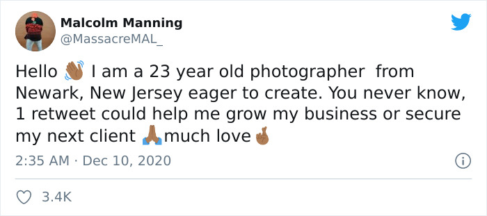 """""""I Really Like Cried"""": A Struggling Photographer Tweets About Trying For Work, Oprah Responds With An Supply"""