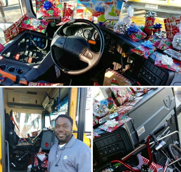 An Elementary School Bus Driver Asked Every Kid On His Bus What They Wanted For Christmas. He Bought Every Child A Gift