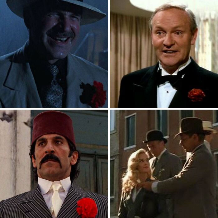 In 1989's Indiana Jones And The Last Crusade, Anyone With A Lapel Flower Tries To Kill Indy. Indy Even Signals Elsa Is Bad By Giving Her A Flower When They Meet