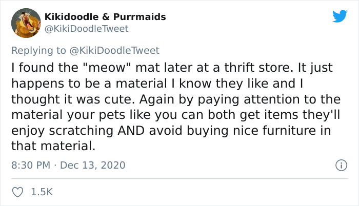 Person Shares How To Have Nice Furniture And A Happy Cat Instead Of Declawing It