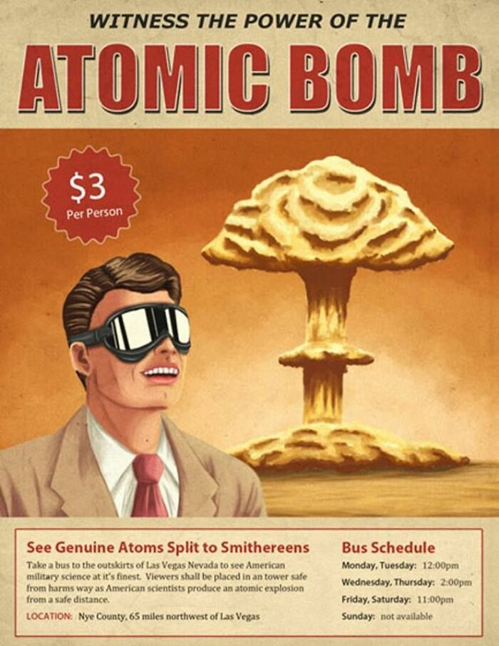 1950s Las Vegas. Witness The Power Of The Atomic Bomb For A Mere $3.
