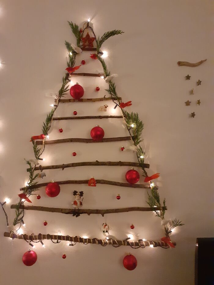 Wanted To Do Something Different This Year. I'm Very Proud Of My Home Made Christmas Tree