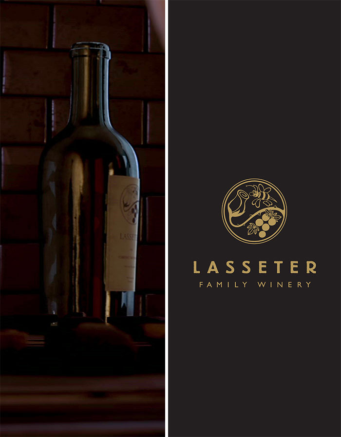 """There Is A Lasseter Wine Bottle. John Lasseter Owns A Winery In Real-Life. The Bottle Even Has The """"Lasseter Family Winery"""" Logo"""
