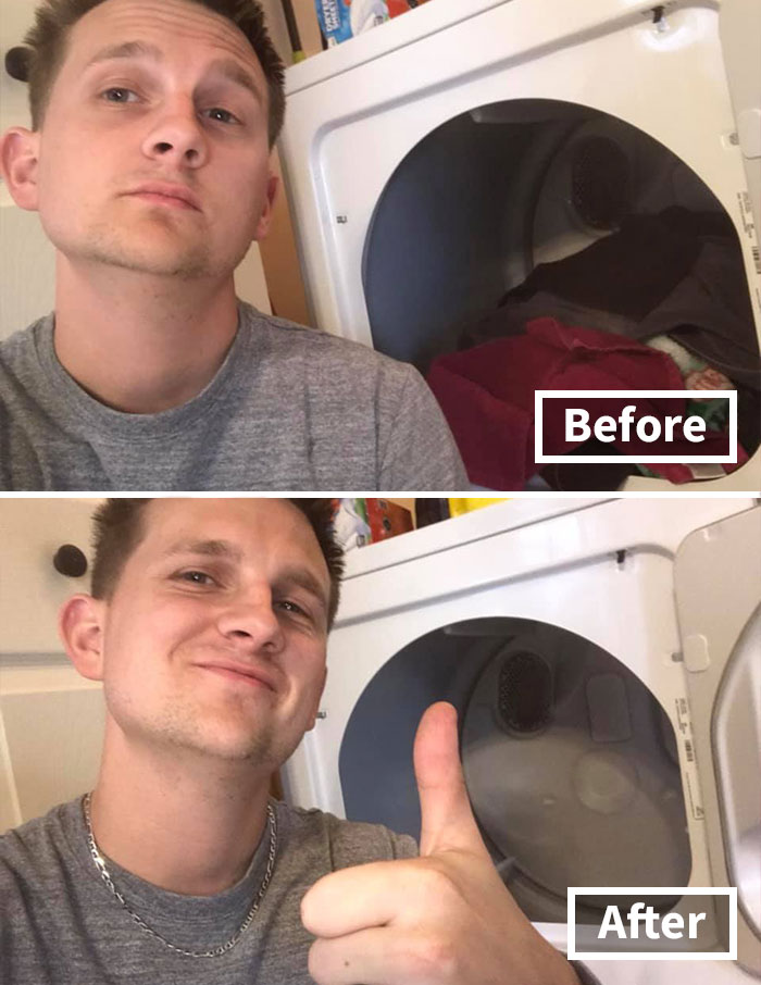 "Man Shares Earlier than And After Pics Of Him Cleansing The Home, Explains How There's Nothing ""Sexier"" To A Lady After 7 Years Of Marriage"