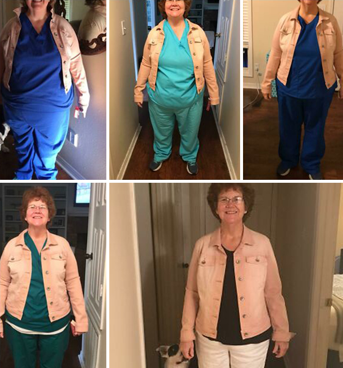 Same Jacket After 20-40-60-80-100 Pounds Lost. Thanks Cico And Walking! Celebrating 100 By Joining Gym