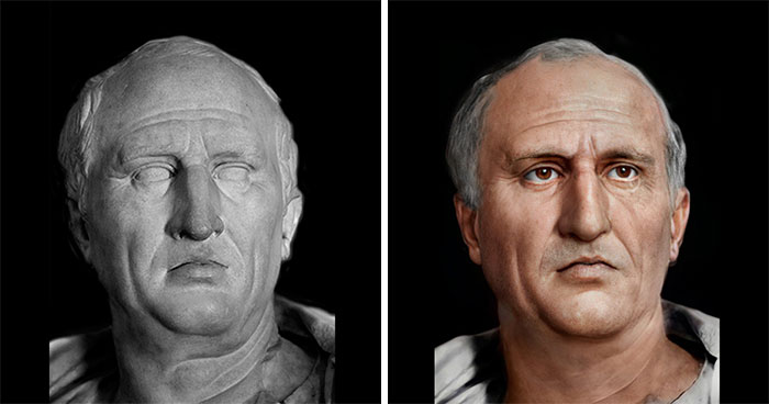 Guy Uses Modern Software To Restore The Faces Of Julius Caesar And 24 Other People From Ancient History