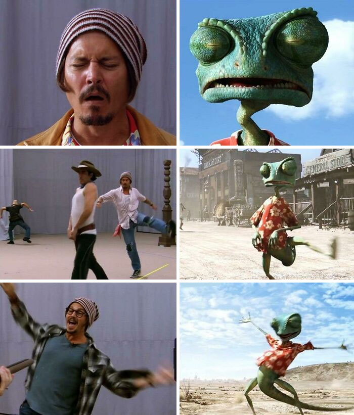 In Rango (2011), Actors Actually Performed Just Like In A Live Movie And This Was Later Referenced By Animators In Animating The Film