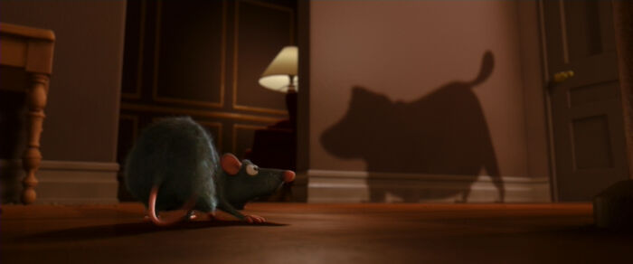 The Dog Barking At Remy Is Doug From Up